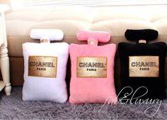 Chanel Perfume Bottle Pillows ✨✨
