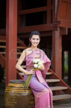 Thai girl in sexy costume parker