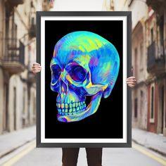 Placa decorativa skull - StickDecor   Decoração Criativa