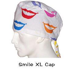 Scrub Surgical XL Caps Smile
