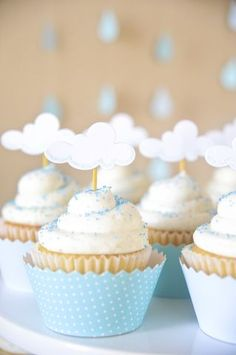 cupcake bleus baptême garçons