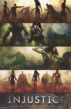 Injustice Gods Among Us Game Action Shots 22x34 Poster – BananaRoad