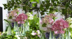 Déco récup : des soliflores aériens Vases, Deco Floral, Art Floral, Glass Vase, Diy, Plants, Home Decor, Studio, Bouquets