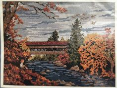 Elsa Williams A Golden Afternoon Needlepoint Kit NIP Autumn Fall Scene | eBay