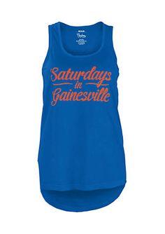 0b7643ec76111 University of Florida Saturday Comfort Colors Tank Football Love