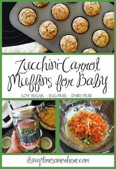 Zucchini Muffins for Baby - It's Naptime Somewhere: