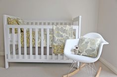 Chittypulga: Modern Trends for Little Kids: Trendy Nursery: Gray and Mustard Yellow for a Modern Baby Room