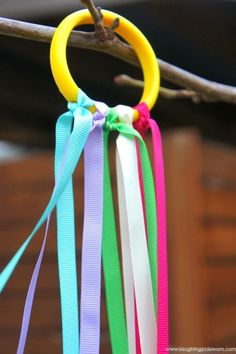 How to make dancing ribbon rings - Laughing Kids Learn