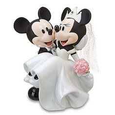 Disney Cake Topper - Porcelain Figure - Mickey Minnie Wedding