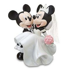 Disney Cake Topper - Porcelain Figure - Mickey Minnie Wedding