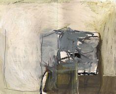 Delphine de Luppé - Double Page 02, huile et crayon sur papier d'imprimerie, 40 × 30 cm encadré, (2012)