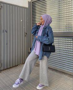 Tomboy Fashion, Hijab Fashion, Fashion Outfits, Hijab Chic, Palazzo Pants, Rain Jacket, Windbreaker, Raincoat, Jumpsuit