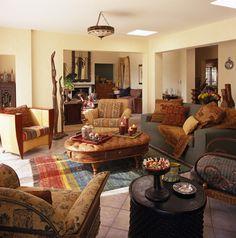 modern southwest decor | contemporary southwestern living room details yellow contemporary ...