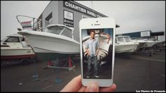 Movie Pics on Real Life Backgrounds via Iphone Photomontage, Dexter, Cherbourg, Fiction, Iphone, Real Life, Advertising, Polaroid Film, Instagram Posts