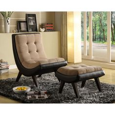 Lashay Lounge Chair & Ottoman | from hayneedle.com