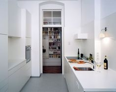 DREI Architektur wins the best architects award in the category Interior Finishings A young family finds an apartment in need of rehabilitation, with. Apartment Kitchen, Kitchen Interior, Kitchen Decor, Kitchen Dining, Mini Loft, Cottage Kitchens, Home Kitchens, Modern Kitchens, Kitchen Modern
