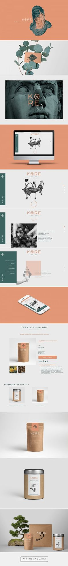 KORE Bulbs and Seeds Online Boutique Branding by Francesco Santese