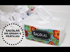Organizando as Sacolas Plásticas de um jeito criativo e sustentável | Or...