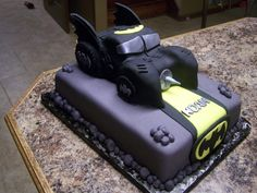 The batmobile is cake that I carved and then covered...