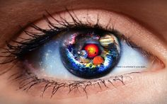 There´s a universe in your eyes. by Willy Belchez, via Behance