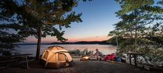 If you and your partner are the type of couple that enjoys the Great Outdoors, consider skipping the resorts or hotels for a romantic getaway and staying at one of these campgrounds.
