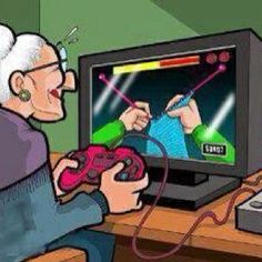 Seniors video game. I just laughed out loud.