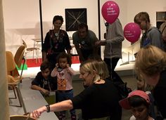 Eames Office Education Director CARLA HARTMAN (granddaughter of Charles and Ray #Eames shows visitors around the new #worldofeames exhibition @vitra @vitrahaus