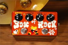 ZVEX Hand Painted Box of Rock Guitar Effects Pedal