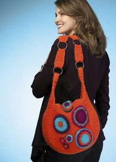 Super cute crochet purse with a circles theme