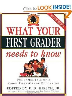 What Your First Grader Needs to Know: Fundamentals of a Good First-Grade Education (Core Knowledge Series): E.D. Hirsch Jr.: 9780385319874: Amazon.com: Books