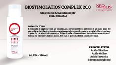 Un nuovissmo prodotto della #LineaViso Professionale: il #BIOSTIMOLATIONCOMPLEX 20.0 un Gel a base di AHAs indicato per PELLI NORMALI!
