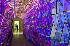 Olafur Eliasson @ SFMOMA | One Way Color Tunnel 2007 - Geodesic Domes
