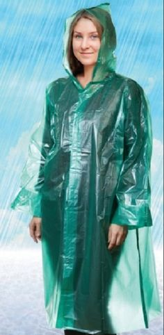 Vinyl Raincoat, Pvc Raincoat, Plastic Raincoat, Rain Bonnet, Rain Fashion, Plastic Mac, Green Raincoat, Macs, Rain Wear