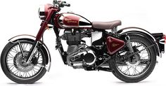 Royal Enfield Classic 500 Motorcycle Who said that a bike had to look futuristic to look cool? The Royal Enfield Classic 500 Retro Motorcycle, Motorcycle Types, Motorcycle Bike, Classic Motorcycle, Enfield Motorcycle, Royal Enfield Bullet, British Motorcycles, Vintage Motorcycles, Custom Motorcycles