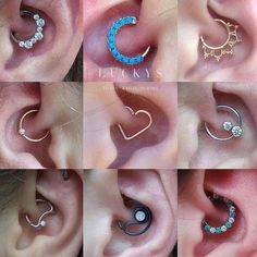 "luckysnoho: "" Daith piercings are super fun and we have tons of jewelry options to make yours unique! Come on in and find your dream piece. ❤ #luckysnoho #northamptonma #earpiercing #daithpiercing #daith #earheart """