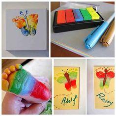 Mariposas con pies coloreados