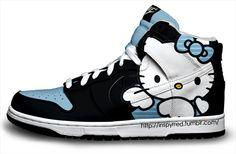 Hello Kitty Nikes Cartoon Nike Dunk Sneakers Hello Kitty Shoes 05e6ddb3c061