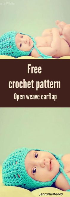 free crochet hat open weave pattern for newborn to 3 months old with easy to follow tutorial and perfect for beginner!