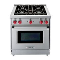 Wolf Free Standing Gas Range - This is my oven Best Range Cookers, Wolf Appliances, Kitchen Appliances, Wolf Range, Single Oven, Stainless Steel Oven, Built In Ovens, Kitchen And Bath, Kitchen Reno
