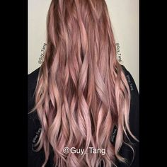 Coral blonde/ Rose Blonde Balayage Ombre