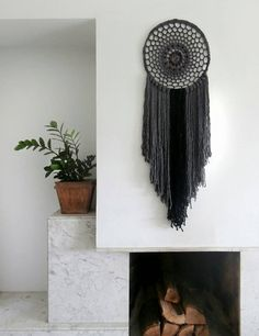 Check out this item in my Etsy shop https://www.etsy.com/uk/listing/254198291/large-bohemian-decor-black-and-gray-wall