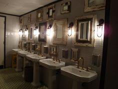 sinks and brass taps