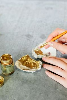 Paint oyster shells, to hold small items like jewellery