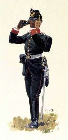 Oberleutnant, Rheininsches Jäger-Bataillon Nr. 8 (By Carl Becker, from the Anne S.K. Brown Military Collection)