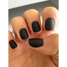 BLACK MATTE NAIL POLISH ❤ liked on Polyvore featuring beauty products, nail care, nail polish and nails