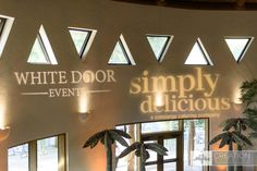 Projected Logos for White Door Events and Simply Delicious Caterings