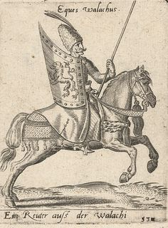 Wallachian horseman from the beginning of the century. Medieval Clothing, Napoleonic Wars, Eastern Europe, 17th Century, Renaissance, Artwork, Knights, Soldiers, Warriors