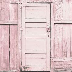 Pink Door - 5x5 Fine Art Photograph - Home Decor Pastel Rustic Wall Art