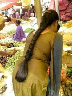 Indian Long hair site: Long hair braid consisting of three strings: they are a symbol for faith, hope and love. All three together in a braid symbolise the mental strength of the woman.