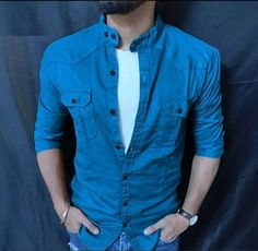 Slim Fit Casual Shirts, Stylish Shirts, Men Casual, Casual Outfits, Mens T Shirts Online, Men Shirts, Mens Clothing Styles, Men Dress, Shirt Designs